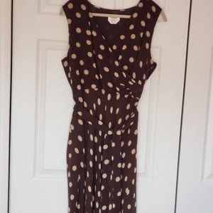 Talbots 100% Silk Sleeveless Faux Wrap Dress